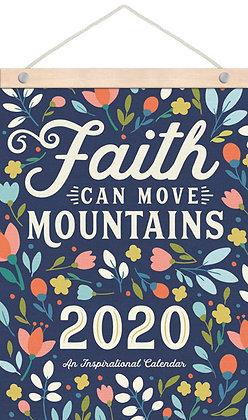2020 Faith Moves Mountains - Wood Wall Strip Calendar
