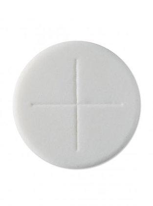 Priests Altar Bread Sealed Edge Single Cross - White - Pack of 50