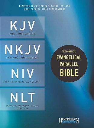 The Complete Evangelical Parallel Bible-PR-KJV/NKJV/NIV/NLT Leather by Hendricks