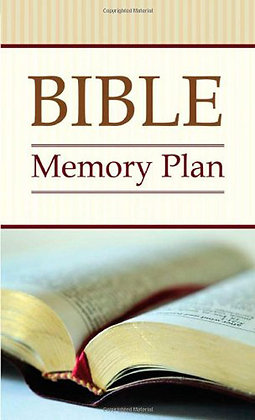 Bible Memory Plan Paperback  52 Verses You Should and Can Know