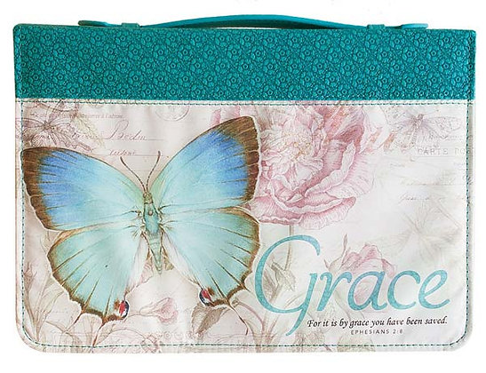 Grace Butter in Teal Bible Cover