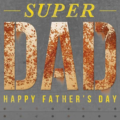 Supper Dad Fathers day Greeting Card