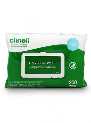 Clinell Jumbo Universal Surface/Hand Sanitising Disinfectant Anti Bacterial 200W