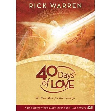40 DAYS OF LOVE DVD WARREN, RICK