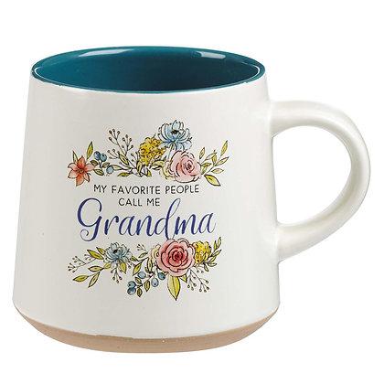 Ceramic Grandma Coffee Mug with Clay Dipped Base