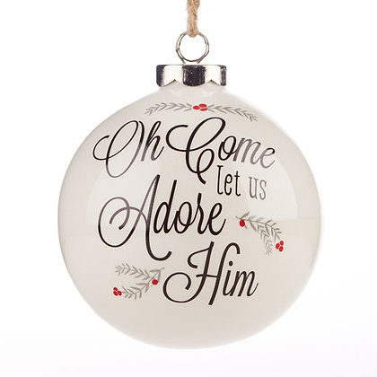 Oh Come Let Us Adore Him Christmas Tree Ornament