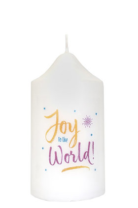 Joy to the World Christmas Candle