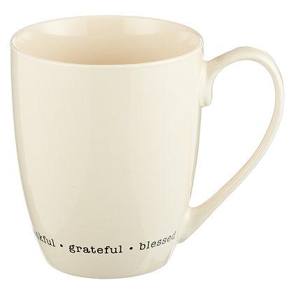 Thankful Grateful Blessed Coffee Mug