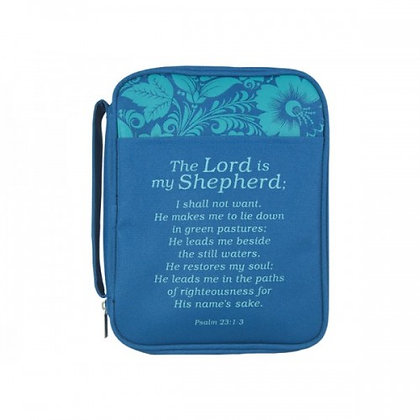 The Lord is my Shepherd bible cover Teal Green