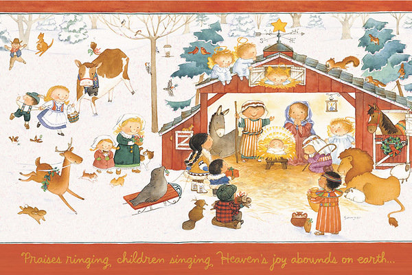 Children Singing Christmas Greeting Cards pack of 18