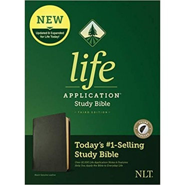NLT Life Application Study Bible Leather Third Edition, Indexed by New Living T