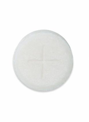 Peoples Altar Breads Single Cross White Pack of 1200 11/8 inch Holy Communion