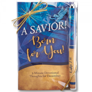 Christ A Saviour Is Born For You Devotional Book And Pen Set! Christmas Gift