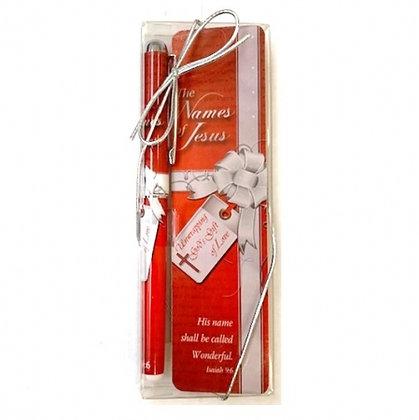 The Names Of Jesus Pen & Bookmark Gift Set