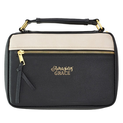 Bible Case: Amazing Grace/Black (Size M)