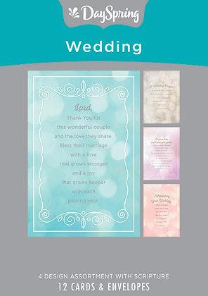 Wedding - Wedding Prayers - 12 Boxed Cards, KJV