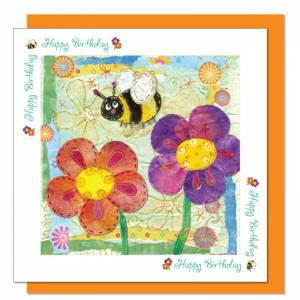 Bee Design Birthday Card (with verse) Women & Girls