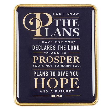 Visor Clip: For I Know the Plans - Jeremiah 29:11Hardback