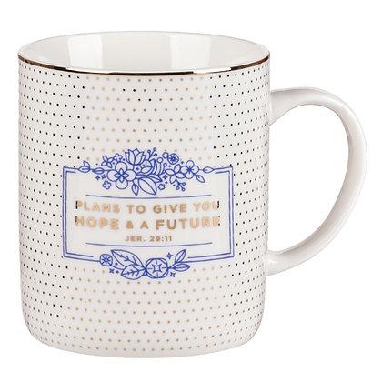 Hope and Future Coffee Mug - Jeremiah 29:11
