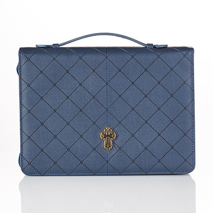Bible Case: Cross Blue (M/L)