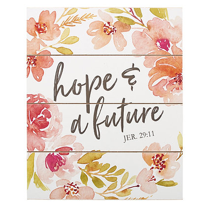 Wall Plaque: Hope and Future
