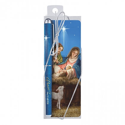 Peace On Earth Bookmark And Pen Christmas Gifts Set