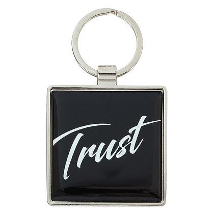 Trust - Proverbs 3:5 Metal Keyring