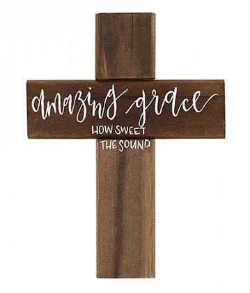 Amazing Grace Wall Art Cross