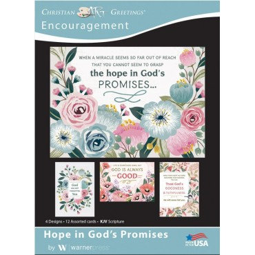 Words of Hope Encouragement Cards, Box of 12  (KJV)