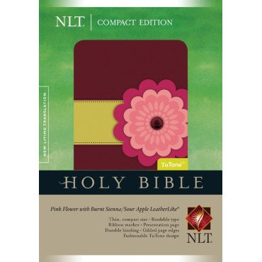 NLT Compact Bible: Pink Flower Leather Like	 Imitation Leather EAN 9781414313993
