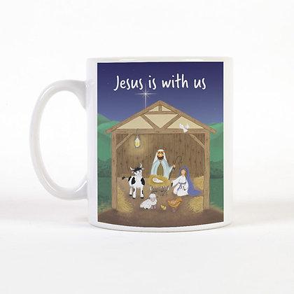 Jesus Is With Us Christmas Mug