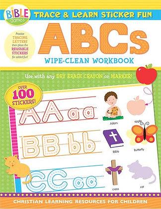 Trace & Learn Sticker Fun: ABCs Wipe-Clean Workbook Paperback by Twin Sisters