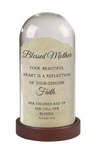 Blessed Mother Tabletop Lamp Proverb 31: 28