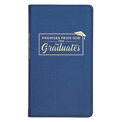Promises from God for Graduates Blue Lux-Leather