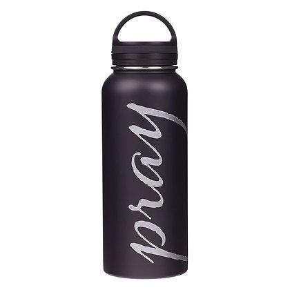 Pray Black Stainless Steel Water Bottle