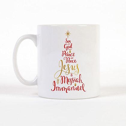 Name Of Jesus Christmas Tree Mug