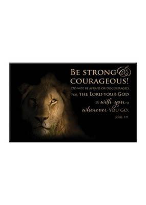 Magnet: Lion - Josh. 1:9