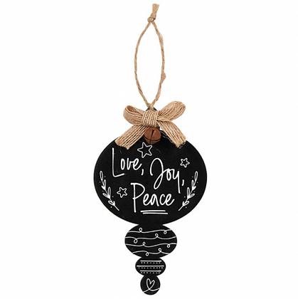 Love Joy Peace Christmas Tree Ornament