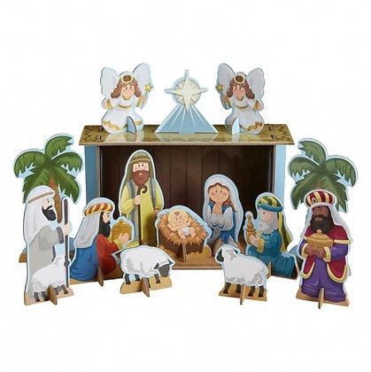 Chipboard Nativity Set