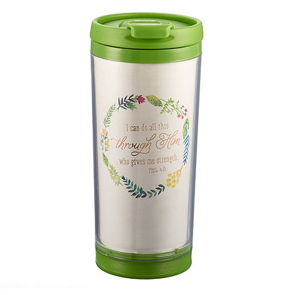 I Can Do All This Polymer Travel Mug - Philippians 4:13