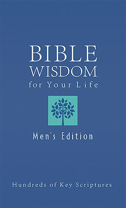 Bible Wisdom For Your Life Men's Edition  Hundreds of Key Scriptures  Ed Strauss