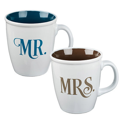 Let All You Do Be Done With Love Mr & Mrs Mug Set