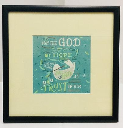 SCRIPTURE FRAME - GOD OF HOPE