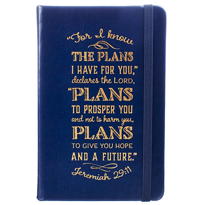 I Know The Plans Hardcover LuxLeather Notebook with Elastic Closure - Jeremiah 2