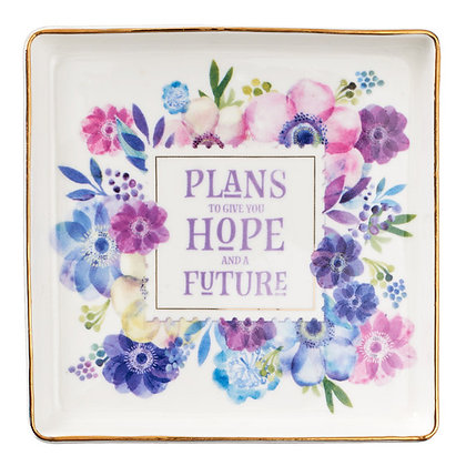 Hope and Future Trinket Tray - Jeremiah 29:11