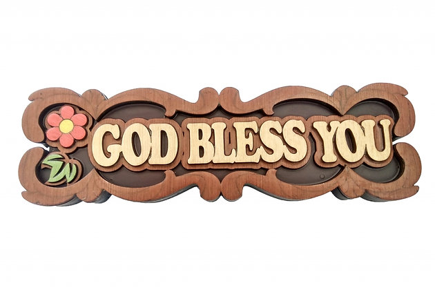 WALL PLAQUE - GOD BLESS YOU