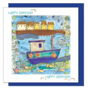 Boat Design Birthday Card (with verse) Men & Boys