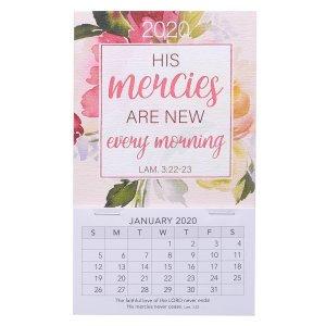 His Mercies Are New Mini Magnetic Calendar 2020