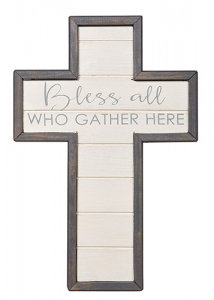 Bless All Who Gather Here Wall Art Cross