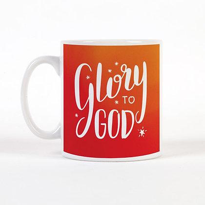 Glory To God Christmas Mug